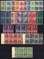 Switserland: 1944, Courrier De La Sociéte Des Nations, SBK Nr 71-91 COMPLETE Set Used In 4 Block  CV € 720