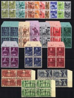 Switserland: 1944, Courrier De La Sociéte Des Nations, SBK Nr 71-91 COMPLETE Set Used In 4 Block  CV € 720 - Servizio