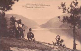 Washington Lakeside Beautiful Lake Chelan As Seen From Meadow Creek Lodge Artvue - United States