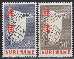 2200. Suriname, 1966, Commissioning Of Tv's, MH (*) - Surinam
