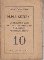 Chemin De Fer D'Orléans. Ordre Général. ... Police Des Chemins De Fer... - Transports