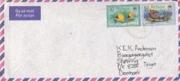 Tuvalu: Air Mail Cover To Denmark - Tuvalu