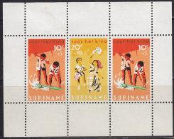 2207. Suriname, 1966, For The Child, Block, MH (*) - Surinam