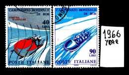 - ITALIA - REPUBBLICA - Serie Completa - Year 1966 - Campionati Mond. BOB - Viaggiati - Traveled -reiste... - 6. 1946-.. Repubblica