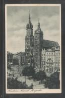 POLAND 1932 KRAKOW KRAKAU MARIAN CHURCH KOSCIOL MARIACKI FINE POSTCARD ARCHITECTURE RELIGION - Poland