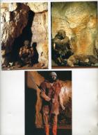 Préhistoire, 3 Cartes, Menton, Néandertal, Pié Lombard,Homo érectus, Vallonnet, Grotte De Cavillon,sépulture - Nozze