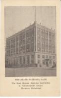 Shawnee OK Oklahoma, State National Bank Building, Pottawatomie County,  C1910s/20s Vintage Postcard - Sonstige