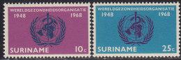 2214. Suriname, 1968, World Health Organization, MH (*) - Surinam
