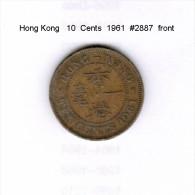HONG KONG    10  CENTS  1961  (KM # 28.1) - Hong Kong