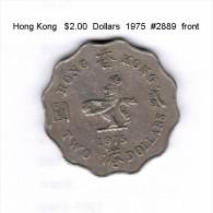 HONG KONG    $2.00  DOLLARS  1975  (KM # 37) - Hong Kong
