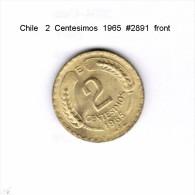 CHILE    2  CENTESIMOS  1965  (KM # 193) - Chile