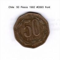 CHILE    50  PESOS  1992  (KM # 219.2) - Chile