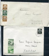 Germany 1933-9 (4) Covers Hindenbourg Single,strip Of 3 ++ - Germany