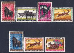 Ruanda-Urundi, Scott # 137-41,146,148 Mint Hinged Animals, 1959 - Ruanda-Urundi