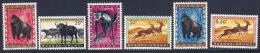 Ruanda-Urundi, Scott # 137-41,146 Mint Hinged Animals, 1959 - 1948-61: Mint/hinged