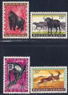 Ruanda-Urundi, Scott # 137-40 Mint Hinged Animals, 1959 - Ruanda-Urundi
