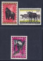 Ruanda-Urundi, Scott # 137-9 Mint Hinged Animals, 1959 - Ruanda-Urundi