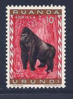 Ruanda-Urundi, Scott # 137 MNH Gorilla, 1959 - Ruanda-Urundi