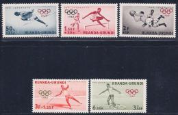 Ruanda-Urundi, Scott # B26-30 Mint Hinged Sports, 1960 - Ruanda-Urundi
