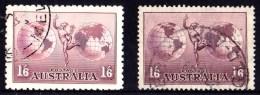 Australia 1934 Hermes No Wmk & Wmk Used - Gebruikt