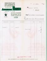 1938 MANUFACTURE DE CORSETS ET CEINTURES AUCUSTE BRUN  PERE & FILS 73 BIS COURS GAMBETTA LYON L´ETOILE MARQUE DEPOSEE - France