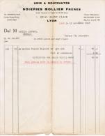 1938 UNIS & NOUVEAUTES SOIERIES MOLLIER FRERES 3 QUAI SAINT-CLAIR LYON - France