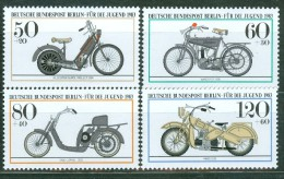 BERLIN - Komplettsatz Mi-Nr. 694 - 697 Historische Motorräder Postfrisch - Neufs
