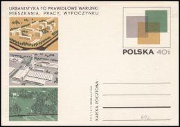 "Poland 1971, Postal Stationery ""Popularization Of Urban Developments Polish"", Cp 492, Mint - Ganzsachen"