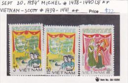 Vietnam 1984  Friendship With Cambodia Set MNH - Vietnam