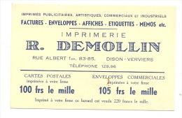 BUVARD - DISON - VERVIERS - Imprimerie - Papeterie R. Demollin  (sf73) - Papeterie