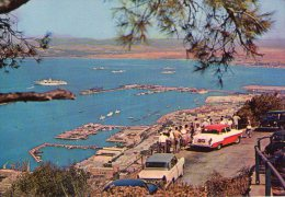 GIbraltar..animée..belle Vue Du Port...voitures..bateaux - Gibraltar