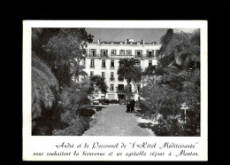 06 - MENTON - Hotel Méditerrannée - Menton