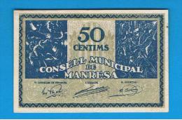 BILLETE LOCAL - MANRESA 50 Centimos - Andere