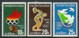 Mcx0393 SPORT OLYMPISCHE SPELEN STADION DISCUSWERPEN FLAME OLYMPIC GAMES NEDERLANDSE ANTILLEN 1968 PF/MNH  VANAF1EURO - Zomer 1968: Mexico-City