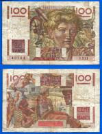 France 100 Francs 1947 Jeune Paysan Serie S Animal Paypal Skrill OK - 1871-1952 Anciens Francs Circulés Au XXème