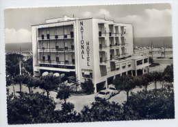 Italie-RIMINI--National Hotel   (voitures Peugeot 403 & 404),cpsm 10 X 15  éd Ri-Ma--carte Publicitaire De L'hotel - Rimini
