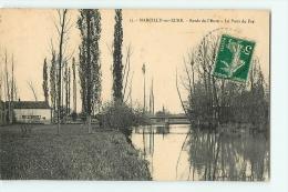 Marcilly Sur Eure : Bords De L'Eure. Le Pont De Fer. 2 Scans. - Marcilly-sur-Eure