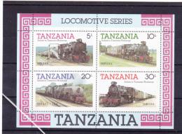 Tanzania Minisheet: Locomotive Series Mint/**   (G44-22C) - Treinen