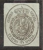 ESPAÑA 1855 - Edifil #37A - MNH ** - 1850-68 Regno: Isabella II