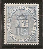 ESPAÑA 1874 - Edifil #142 - MNH ** - Impuestos De Guerra