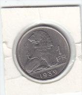 1 FRANC -nickel Pur Léopold III 1939 FL/FR - 1934-1945: Leopold III