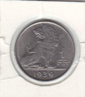 1 FRANC -nickel Pur Léopold III 1939 FR/FL - 1934-1945: Leopold III
