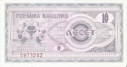 BILLETE DE MACEDONIA DE 10 UNIDADES  SIN CIRCULAR-UNCIRCULATED   (BANKNOTE) - Macedonia