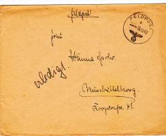Feldpost WW2: 2. Panzerjäger-Kompanie Schnelle Abteilung 267 FP 12616 Dtd 28.10.1942 - Cover Only  (G44-18) - Militaria