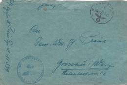 Feldpost WW2: 4. Fahrkolonne Infanterie-Divisions-Kolonne 186 FP 11379 Dtd 27.7.1943 - Cover Only. Top Trimmed   (G44-17 - Militaria