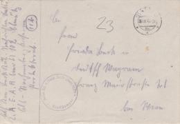 Feldpost WW2: Nachrichten Ersatz Und Ausbildungs Bataillon (mot) 102 Dtd Olmütz 28.9.1944 - Letter Inside   (G44-17) - Militaria