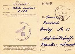 Feldpost WW2: 2. Kompanie Nachschub-Bataillon 23 FP 12587 Dtd 13.2.1942 - Plain Postcard   (G44-17) - Militaria