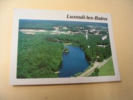 VUE AERIENNE...LE LAC DES 7 CHEVAUX....FLAMME 20-8-1990 - Luxeuil Les Bains