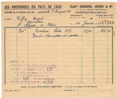 DOUDEVILLE LES PROVENDES DU PAYS DE CAUX ETS AMBOURG CUINAT &CIE 1961 - Alimentaire