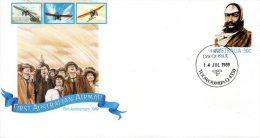 AUSTRALIE. Entier Postal Avec Oblitération 1er Jour De 1989. Poste Aérienne. - Avions